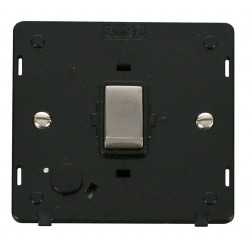 Click Definity SIN522BKSS 20A DP Ingot Switch with Flex Outlet Insert, Black with Stainless Steel Switch
