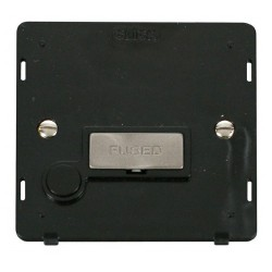 Click Definity SIN550BKBS 13A Fused Connection Unit With Flex Outlet Insert, Black with Brushed Steel Switch