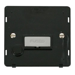 Click Definity SIN550BKCH 13A Fused Connection Unit With Flex Outlet Insert, Black with Polished Chrome Switch