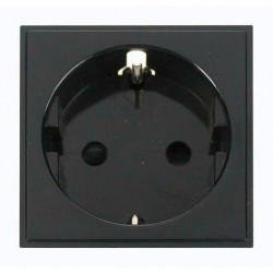 Click New Media MM020BK 16A European Schuko Socket Outlet in Black