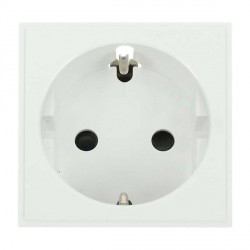 Click New Media MM020WH 16A European Schuko Socket Outlet in White