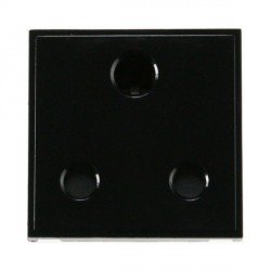 Click New Media MM033BK 15A Round Pin Socket Outlet in Black