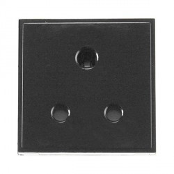 Click New Media MM038BK 5A Round Pin Socket Outlet in Black