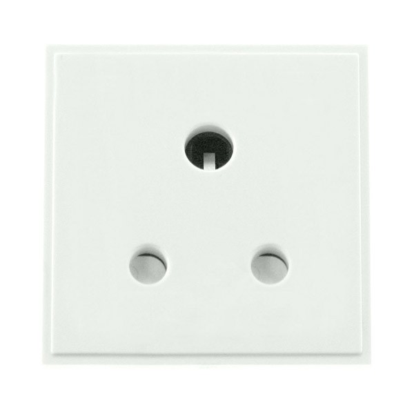 Click New Media MM038WH 5A Round Pin Socket Outlet In White