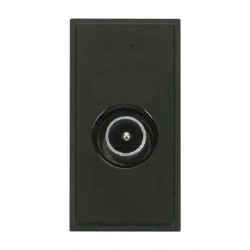 Click New Media MM415BK Single Male Coaxial Module in Black