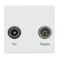 Click New Media MM420WH Diplexed TV and Radio in White