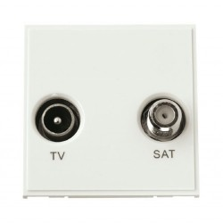 Click New Media MM425WH Diplexed TV and Satellite in White