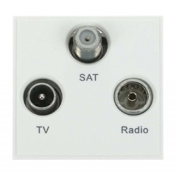 Click New Media MM430WH Triplexed TV, Radio and Satellite in White