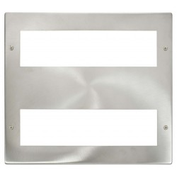 Click New Media MP516BS Large Media 2x8 Module Front Plate in Brushed Steel
