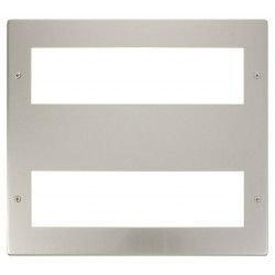 Click New Media MP516PN Large Media 2x8 Module Front Plate in Pearl Nickel