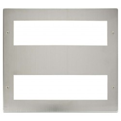 Click New Media MP516SS Large Media 2x8 Module Front Plate in Stainless Steel