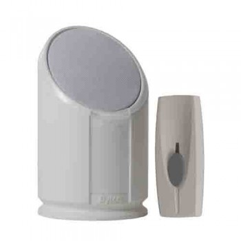 Byron BY301 Wirefree Extra Loud Portable Door Chime Kit With Strobe Light