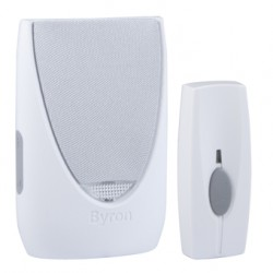 Byron BY201F Wirefree Portable Door Chime Kit with Flashing Light