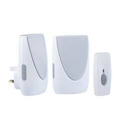 Byron BY212 Wirefree Portable & Plug-in Door Chime Kit