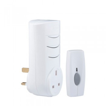 Byron BY103 Wirefree Plug-through Door Chime Kit