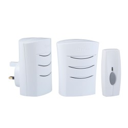 Byron BY112 Wirefree Portable & Plug-in Self Learning Door Chime Kit