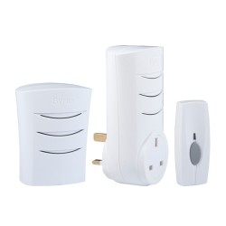Byron BY323 Wirefree Portable and Plug-through Door Chime Kit