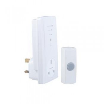 Byron B306 Wirefree plug through door chime kit