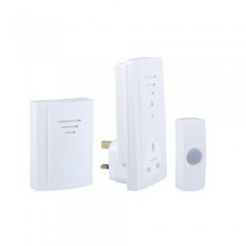 Byron B323 Wirefree plug in twin pack kit