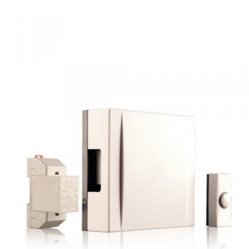 Byron 720K Wired wall mounted doorchime kit White wired
