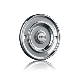 Byron 2207/P1BC Traditional Bell Push Chrome Plated