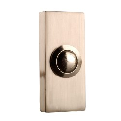 Byron 2204BN Bell Push Brushed Nickel