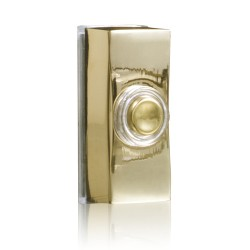 Byron 7960B Wired bell push in brass