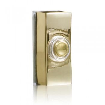 Byron 7960B Wired bell push in brass