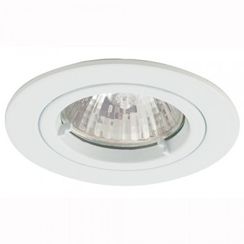 Ansell Twistlock 50W Fixed GU10 White Die-Cast Downlight