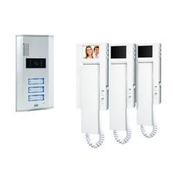 Byron VD63 Three apartment video door intercom