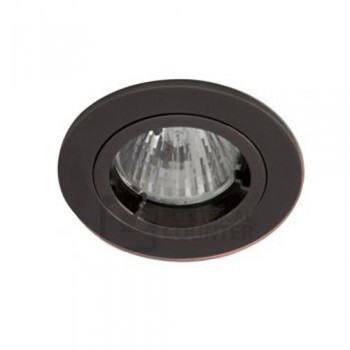Ansell Twistlock 50W Fixed GU10 Black Chrome Die-Cast Downlight