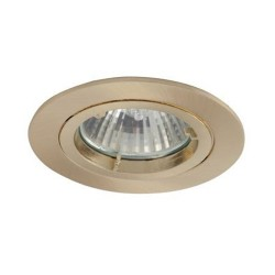 Ansell Twistlock 50W Fixed GU10 Brushed Brass Die-Cast Downlight