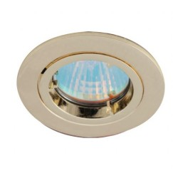 Ansell Twistlock 50W Fixed GU10 Brass Die-Cast Downlight