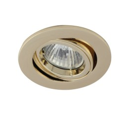Ansell Twistlock 50W Gimbal GU10 Brass Die-Cast Downlight