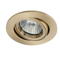 Ansell Twistlock 50W Gimbal GU10 Brushed Brass Die-Cast Downlight