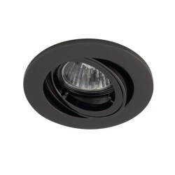 Ansell Twistlock 50W Gimbal GU10 Black Chrome Die-Cast Downlight