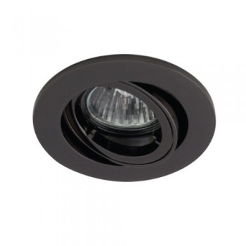 Ansell Twistlock 50W Gimbal GU10 Black Chrome Die-Cast Downlight