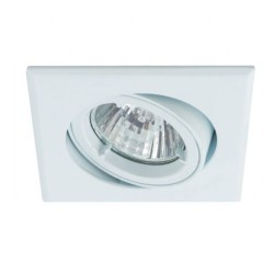 Ansell Twistlock 50W Square Gimbal GU10/MR16 White Die-Cast Downlight
