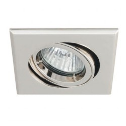 Ansell Twistlock 50W Square Gimbal GU10/MR16 Chrome Die-Cast Downlight