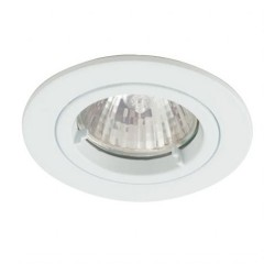 Ansell Twistlock IP44 50W Fixed GU10 White Die-Cast Downlight