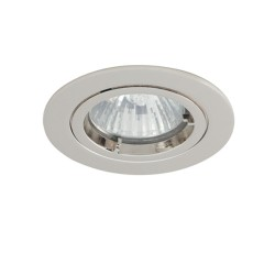 Ansell Twistlock IP44 50W Fixed MR16 Chrome Die-Cast Low Voltage Downlight