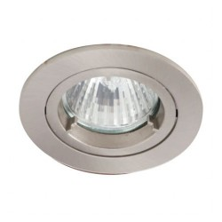 Ansell Twistlock IP44 50W Fixed GU10 Satin Chrome Die-Cast Downlight