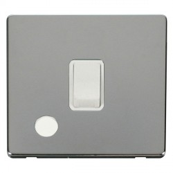 Click Definity Flat Plate Screwless 20A DP Polar White with Flex Outlet with Polished Chrome Cover Plate