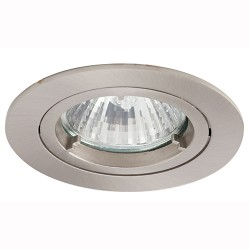 Ansell Twistlock 50W Fixed GU10 Satin Chrome Die-Cast Downlight