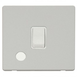 Click Definity Flat Plate Screwless 20A DP Polar White with Flex Outlet with Polar White Cover Plate