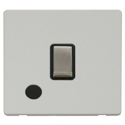 Click Definity Flat Plate Screwless 20A DP Ingot Switch with Flex Outlet, Black Insert with Stainless Ste...