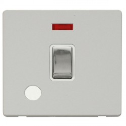 Click Definity Flat Plate Screwless 20A DP Polished Chrome Ingot Switch with Flex Outlet and Neon, Polar ...