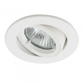 Ansell Twistlock IP44 35W Gimbal GU10 LED White Die-Cast Outdoor Downlight