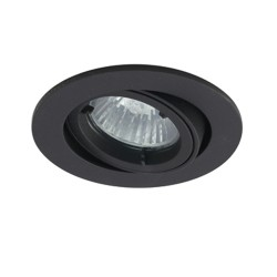 Ansell Twistlock IP44 35W Gimbal GU10 LED Black Die-Cast Outdoor Downlight