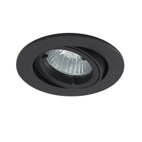 Mr16 Led Downlights Uk: Ansell Twistlock IP44 35W Gimbal GU10 LED Black Die-Cast